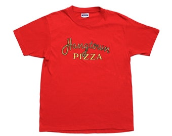 d5a2e758 20 x 26 | Vintage 80s | Placerville California 'Hangtown Pizza' T Shirt |  Single Stitch Made in USA | Hanes Fifty-Fifty 50/50 | Super Soft