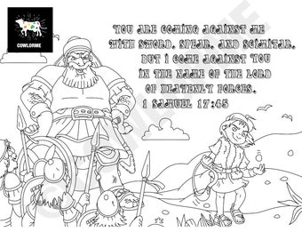 Awana - Free Printable David And Goliath Coloring Pages / All ... | 270x340