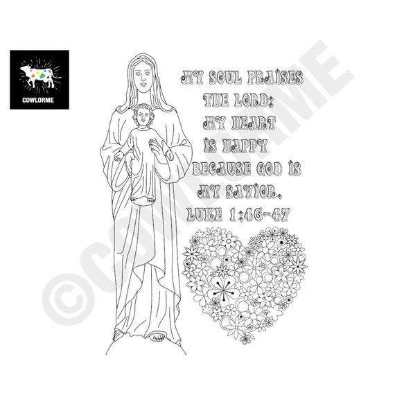 Bible Coloring Kids Jesus Is Born Coloring Page Kids Sunday School Lesson  Printable Coloring Page PDF Mother Maria And Jesus Coloring Page