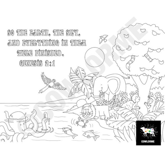 Printable Sunday School Coloring Pages