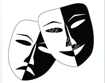 Theater Masks Svg Etsy See more ideas about drama masks, theatre masks, comedy and tragedy. theater masks svg etsy