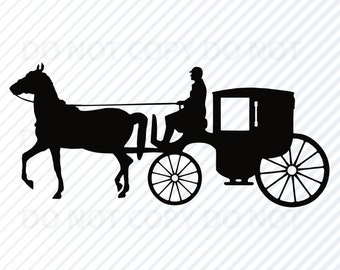 Horse And Carriage Etsy