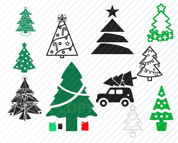 tree clipart Christmas tree svg commercial use svg star svg tree outline tree eps digital download tree stencil christmas dxf