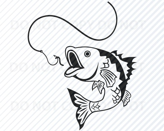 Download Bass Fishing Svg File For Cricut Image Fishing Silhouette Etsy