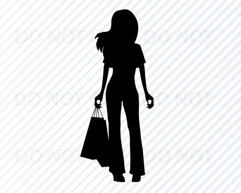 e4ea31bb1dde Diva donna Shopping SVG Diva regina sagoma clipart femmina | Etsy