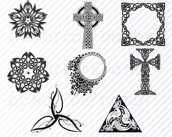 Png Celtic Ornament SVG Files for Cricut Decorative Ornamental Clip Art Vector Images Celtic Knots Image For Cricut  Celtic cross  Eps