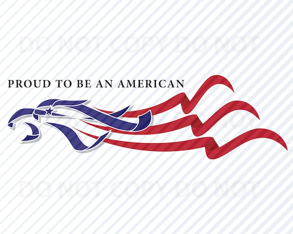 American Flag Eagle Svg Files Clipart Clip Art Silhouette Etsy