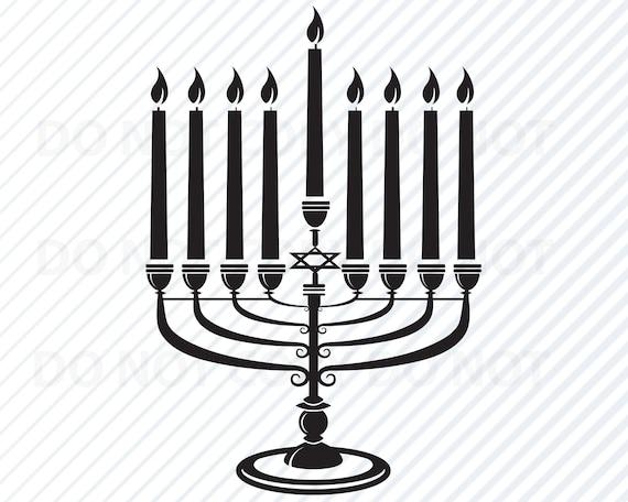 Hanukkah Svg Silhouette Vector Images Clipart Hanukkah Etsy