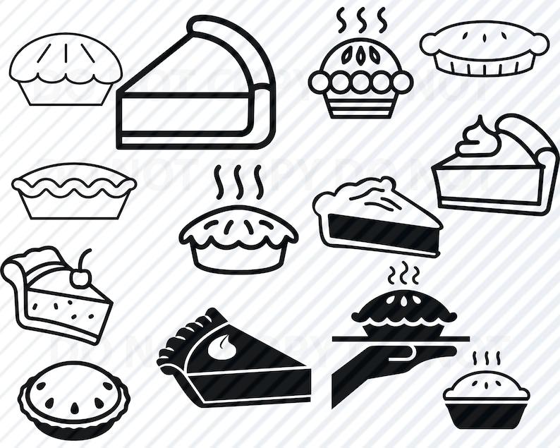 Pie SVG Files Bundle - Pumpkin Pie Vector Images Silhouette Clip Art SVG  File For Cricut- Eps, Png, dxf Stencil ClipArt Back to shool