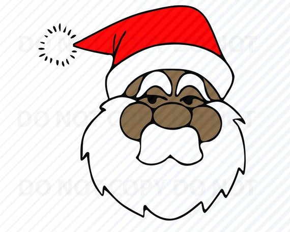 African American Santa Claus Svg Files For Cricut Christmas Etsy