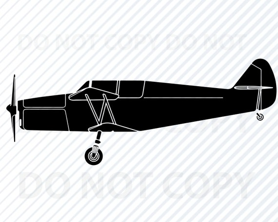 Single Prop Airplane Svg Files For Cricut Vector Images Etsy