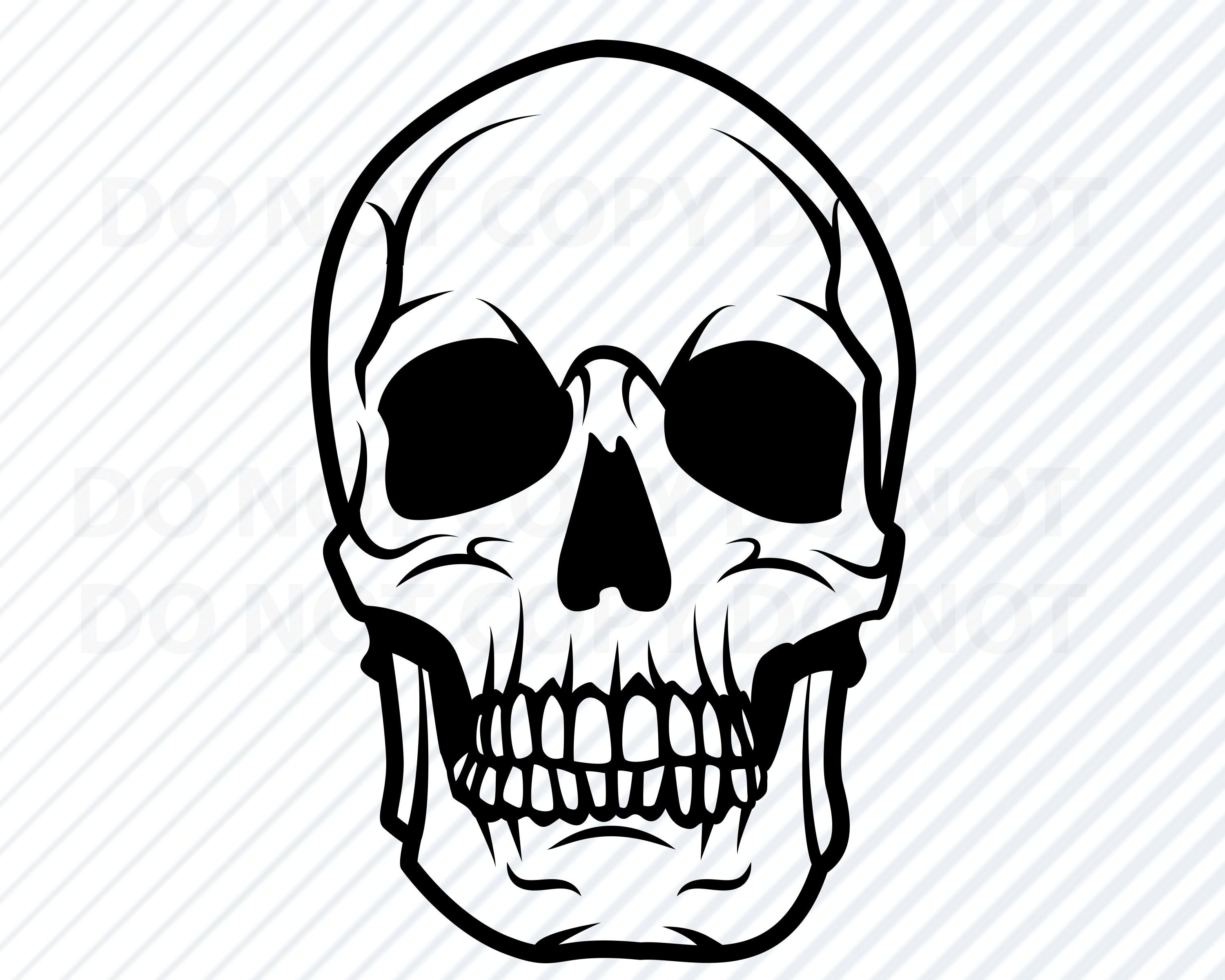 This is a photo of Old Fashioned Skull Drawing Black And White