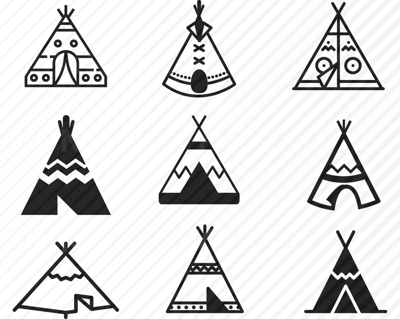 Tipi Svg Bundle Teepee Vector Images Silhouette Clip Art