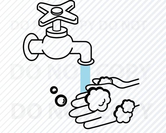Lavez vos mains Stencil