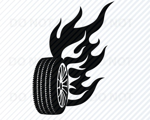 Car Tire Svg Files For Cricut Vector Images Silhouette Etsy
