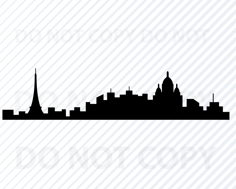 Paris Skyline SVG Dateien für Cricut   Paris Frankreich Skyline von  Clipart Skyline Silhouette Dateien Eps, Paris Png, Dxf Clip Art Stadtbild  Svg