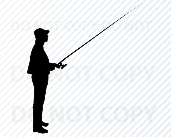 Download Man Fishing Svg File For Cricut Image Fishing Silhouette Etsy