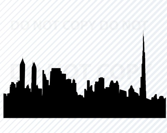 Dubai Skyline Svg Files For Cricut City Skyline Clipart City Etsy