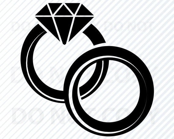 Wedding Ring Svg Files For Cricut Diamond Ring Vector Images Etsy