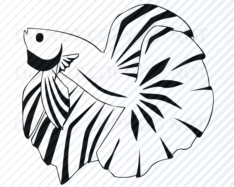 betta fish svg files vector images silhouette goldfish etsy Betta Fish Pottery 50