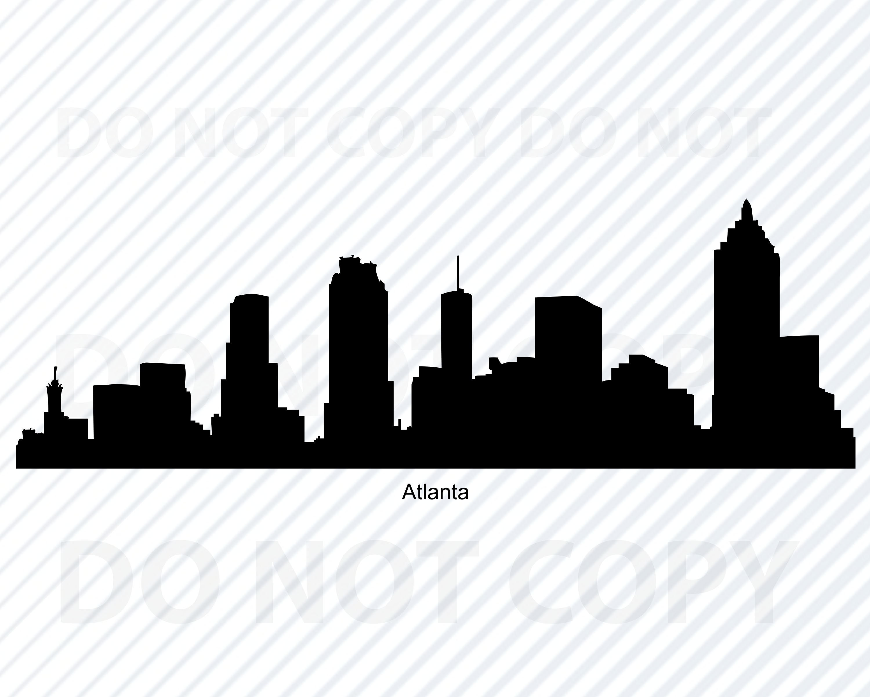Atlanta Georgia Skyline City Silhouette Stock Vector ...