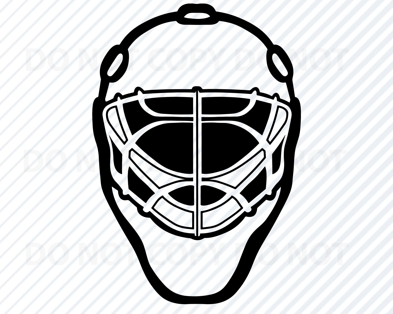 Hockey Goalie Mask Svg File For Cricut Hockey Logo Vector Images Sports Clip Art Ice Hockey Svg Eps Png Sports Mask