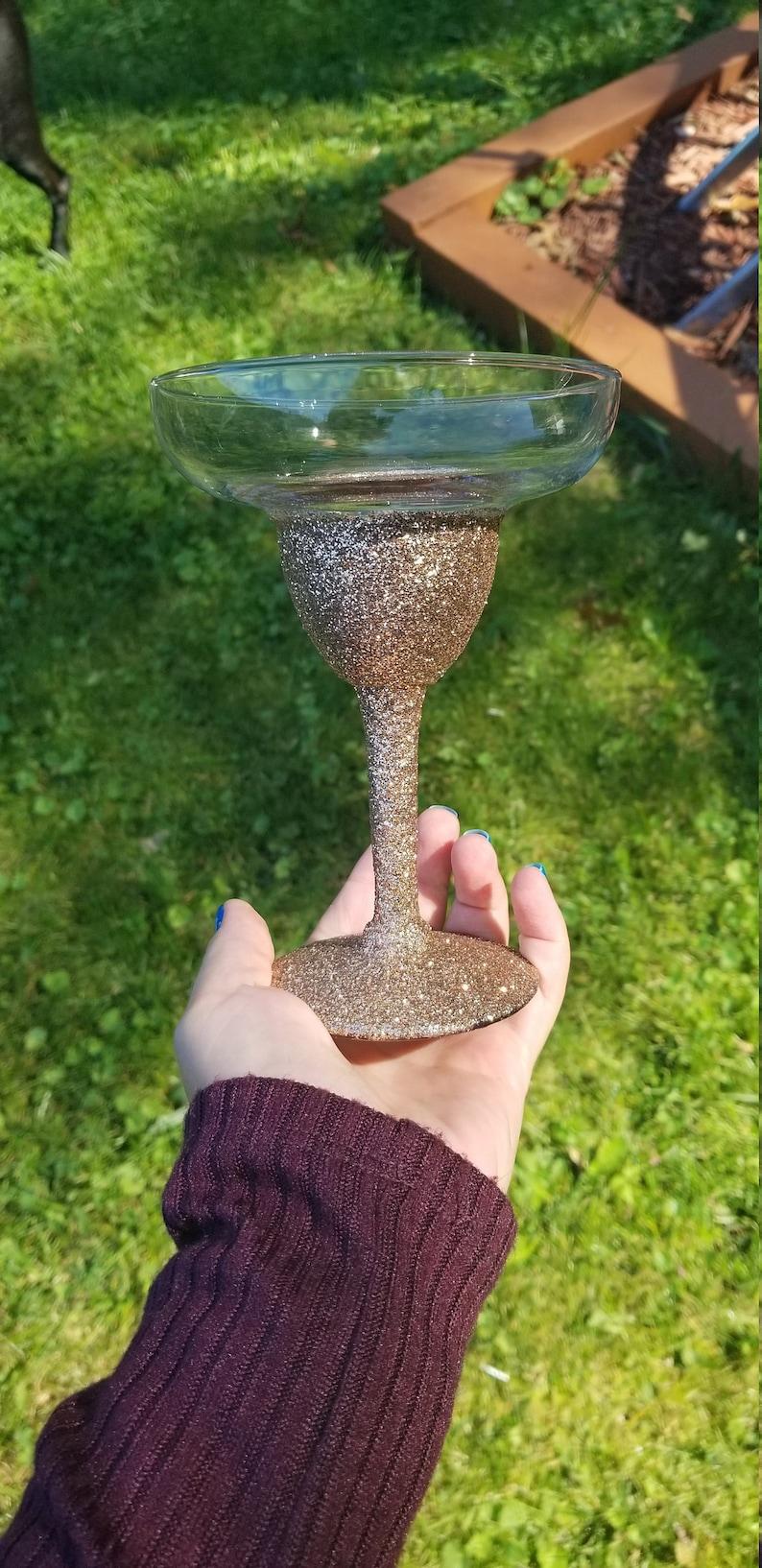 Champagne Glitter Margarita Glass
