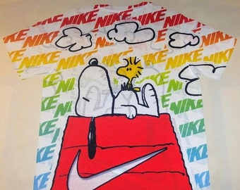 678d1ce0e6a8 Custom NIKE shirt for Rainbow Vapormax Plus Rainbow   Air Max Sunset
