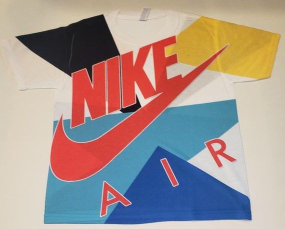 Custom Nike Shirt Air Max 270 React Bauhaus, Air Max 95 Game WhiteUniversity GoldTeal NebulaRed Orbit