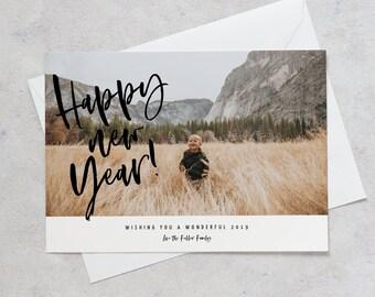 happy new year card with photo new year card photo new year card with photo happy new year postcard twenty nineteen card