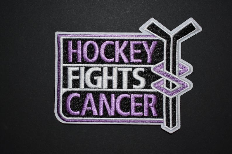 size 40 1277b e6e38 Hockey Fights Cancer NHL Logo Jersey Patch Iron-On