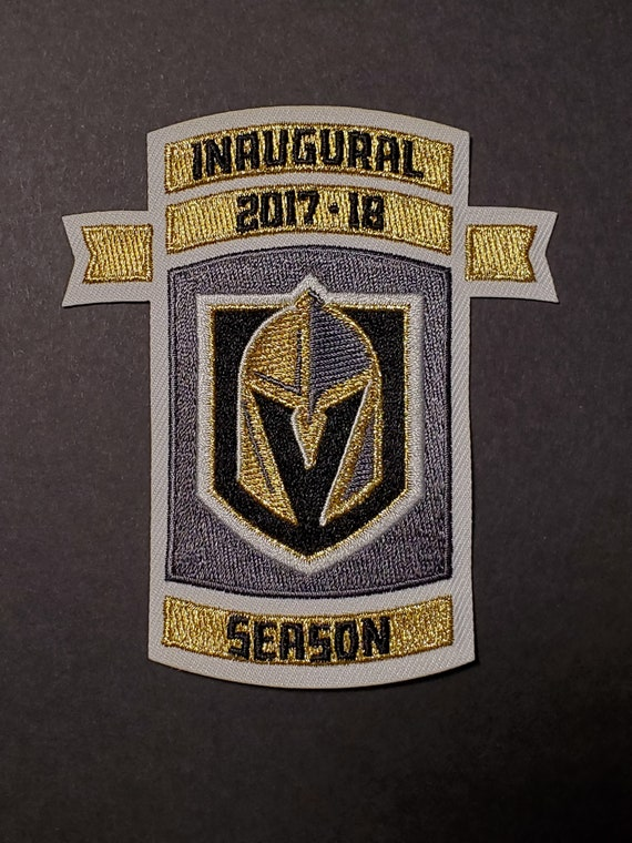 low priced 9549c ebece Golden Knights Inaugural Season Metallic Gold Jersey Patch