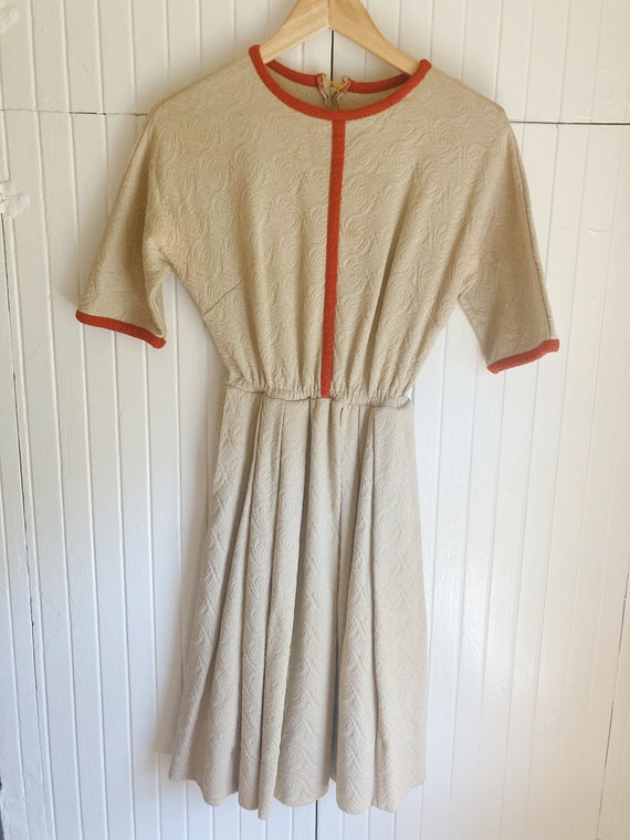 1950s tapestry dress