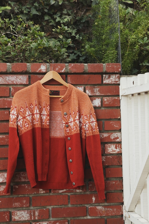 vintage nordic fair isle sweater