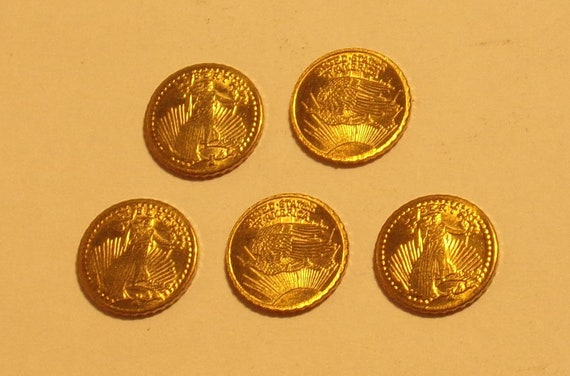 GOLD MINI 1907 ST GAUDENS EAGLE LIBERTY 1//2 GRAM COIN FREE SHIPPING