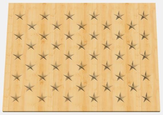 Shapeoko Carbide Create Stars Union For a Flag CNC .c2d Downloadable File