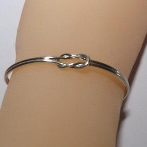 SALE knot bracelet,silver open bracelet,bridesmade gift,cuff bracelet,statement bracelet,adjustable bracelet,silver knot bracelet
