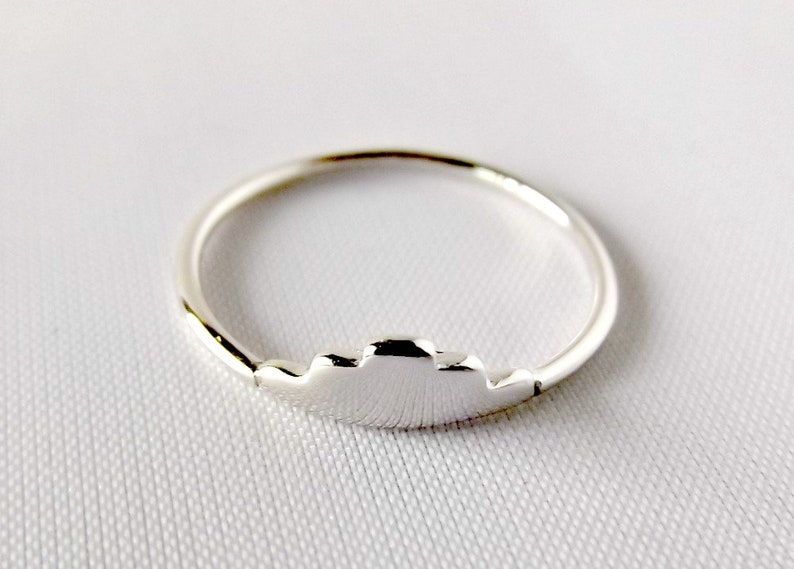 K11049 silver ring pyramid ring geometry ring minimalist ring gold ring rings for women minimalist jewelry delicate ring