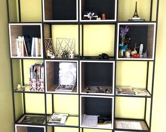 Bookshelf Cube Room Divider Bookcase Books Shelf Files Closet Universal Regal