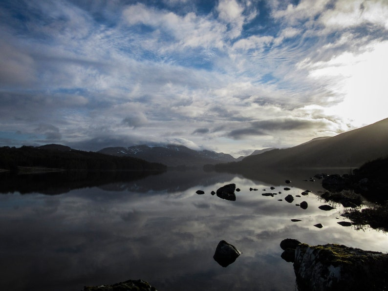 Scottish landscape photography Loch Ossian Rannoch Moor image 0