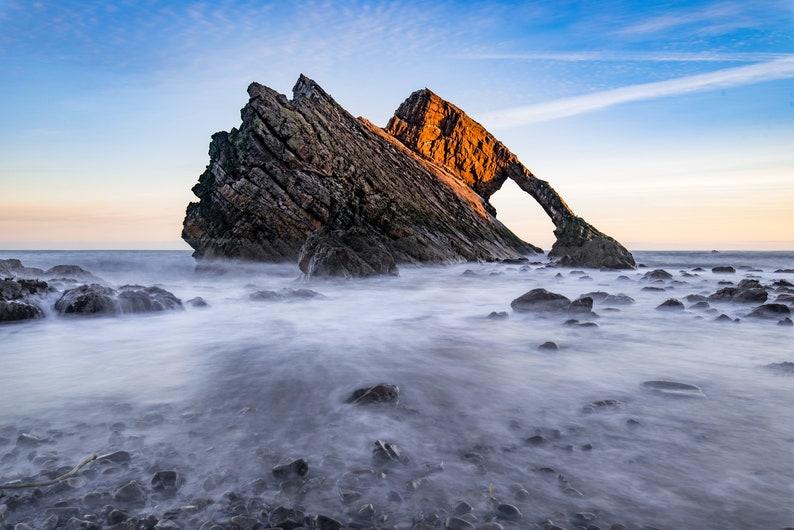 Scottish landscape photography Bow Fiddle Rock Moray image 0