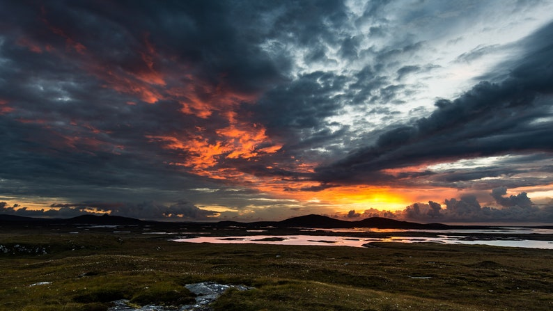 Scottish landscape photography North Uist Sunset Outer image 0