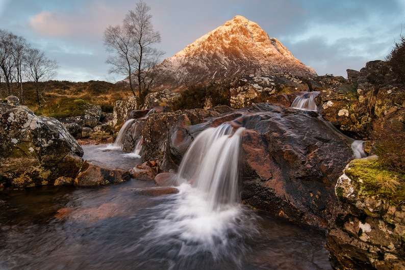 Scottish landscape photography Sunrise at the Buachaille image 0