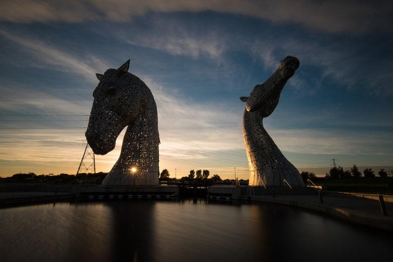 Scottish landscape photography the Kelpies Falkirk image 0