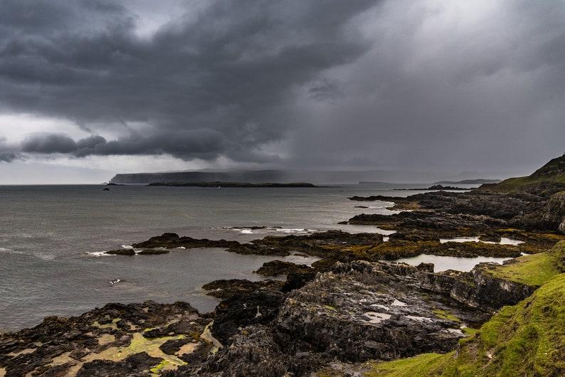 Scottish landscape photography approaching storm Sutherland image 0