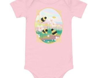 Honeybee Baby Onesie, Girl's Baby Onesie, New Baby Onesie, Cute Onesie, Girl Onesie, Baby Shower Gift, Unique Onesie, Short Sleeve Onesie