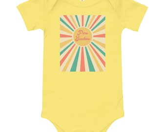 Pure Sunshine Onesie, Unisex Onesie, Cute Onesie, Sunshine Onesie, Retro Onesie,Baby Shower Gift