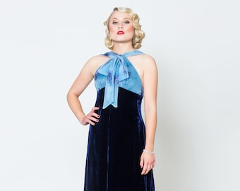 "Dress ""Myrna"",evening dress in vintage style, 1930s style"