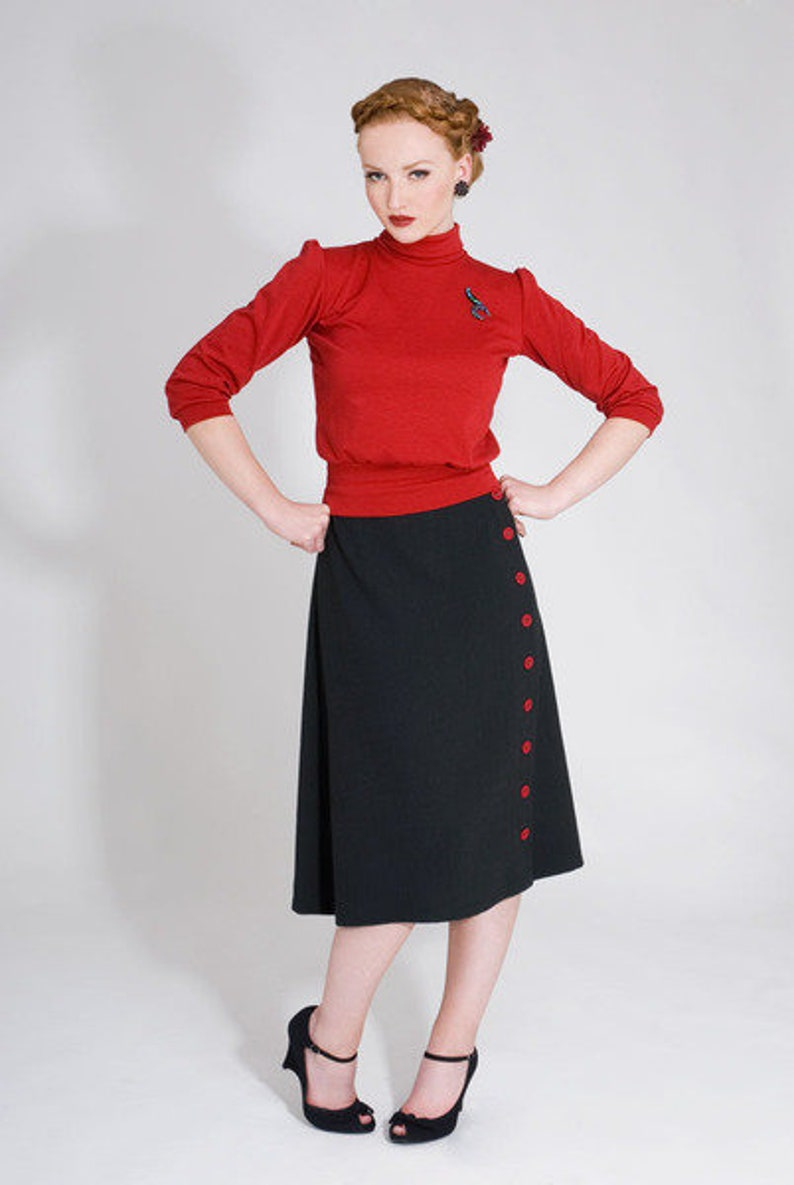 1930s Outfit Inspiration – Women's Clothing Ideas FrozenHibiscus $98.15 AT vintagedancer.com