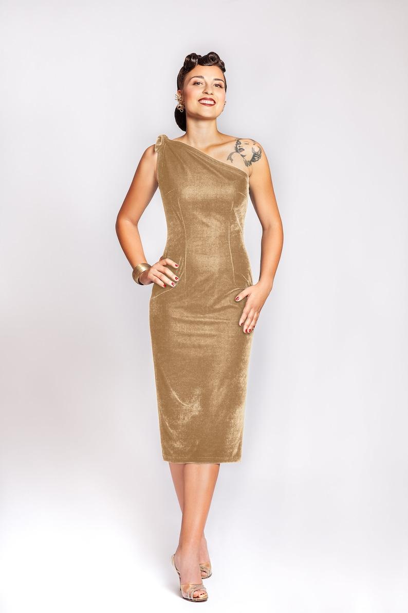 Vintage Evening Dresses, Vintage Formal Dresses One shoulder dress